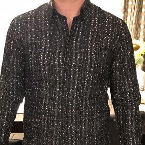 Haupt Mens button dress shirt  Medium 15 1/2